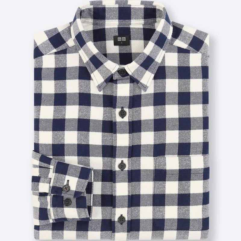 Белая фланелевая рубашка